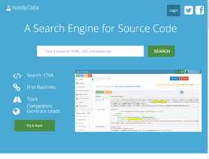 NerdyData   A Search Engine for Source Code