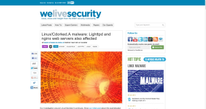 Linux Cdorked.A malware  Lighttpd and nginx web servers also affected   We Live Security